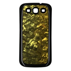 Bright Gold Mother of Pearl Nacre Pattern Samsung Galaxy S3 Back Case (Black)