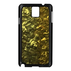 Bright Gold Mother of Pearl Nacre Pattern Samsung Galaxy Note 3 N9005 Case (Black)