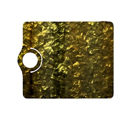 Bright Gold Mother of Pearl Nacre Pattern Kindle Fire HDX 8.9  Flip 360 Case