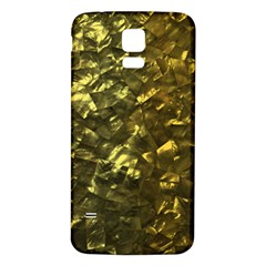 Bright Gold Mother of Pearl Nacre Pattern Samsung Galaxy S5 Back Case (White)