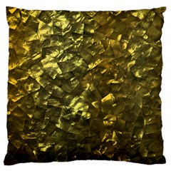 Bright Gold Mother of Pearl Nacre Pattern Large Flano Cushion Case (Two Sides)