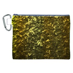 Bright Gold Mother of Pearl Nacre Pattern Canvas Cosmetic Bag (XXL)