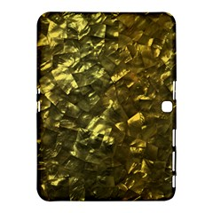 Bright Gold Mother of Pearl Nacre Pattern Samsung Galaxy Tab 4 (10.1 ) Hardshell Case