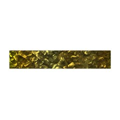 Bright Gold Mother of Pearl Nacre Pattern Flano Scarf (Mini)