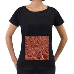 Melting Swirl A Women s Loose-Fit T-Shirt (Black)