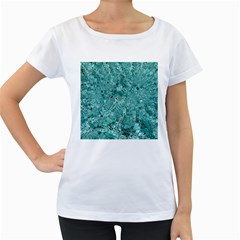 Melting Swirl D Women s Loose-Fit T-Shirt (White)