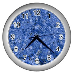 Melting Swirl C Wall Clocks (Silver)