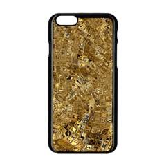 Melting Swirl E Apple iPhone 6/6S Black Enamel Case
