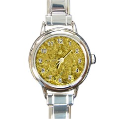 Melting Swirl F Round Italian Charm Watch