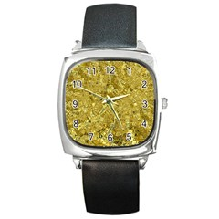 Melting Swirl F Square Metal Watch