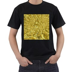 Melting Swirl F Men s T-Shirt (Black) (Two Sided)
