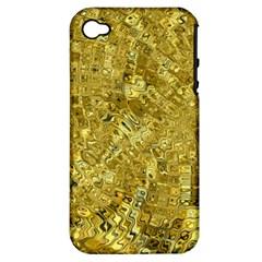 Melting Swirl F Apple iPhone 4/4S Hardshell Case (PC+Silicone)
