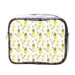 Pineapple Fruit And Juice Patterns Mini Toiletries Bags