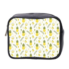 Pineapple Fruit And Juice Patterns Mini Toiletries Bag 2 Side