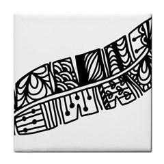 Feather Zentangle Tile Coasters