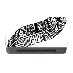 Feather Zentangle Memory Card Reader With Cf