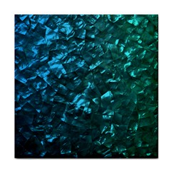 Ocean Blue and Aqua Mother of Pearl Nacre Pattern Tile Coasters