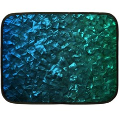 Ocean Blue and Aqua Mother of Pearl Nacre Pattern Double Sided Fleece Blanket (Mini)