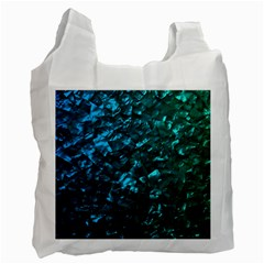 Ocean Blue and Aqua Mother of Pearl Nacre Pattern Recycle Bag (One Side)