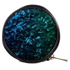 Ocean Blue and Aqua Mother of Pearl Nacre Pattern Mini Makeup Bags
