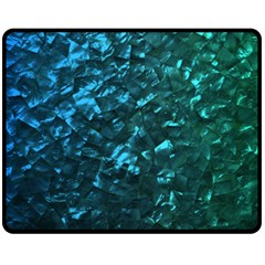 Ocean Blue and Aqua Mother of Pearl Nacre Pattern Fleece Blanket (Medium)