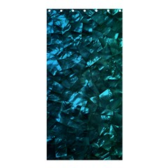 Ocean Blue and Aqua Mother of Pearl Nacre Pattern Shower Curtain 36  x 72  (Stall)