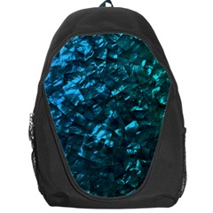 Ocean Blue and Aqua Mother of Pearl Nacre Pattern Backpack Bag