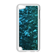 Ocean Blue And Aqua Mother Of Pearl Nacre Pattern Apple Ipod Touch 5 Case (white)