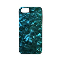 Ocean Blue and Aqua Mother of Pearl Nacre Pattern Apple iPhone 5 Classic Hardshell Case (PC+Silicone)