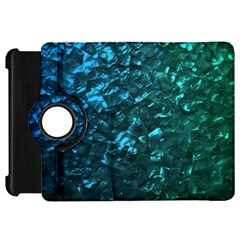 Ocean Blue and Aqua Mother of Pearl Nacre Pattern Kindle Fire HD 7