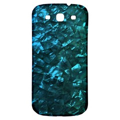 Ocean Blue and Aqua Mother of Pearl Nacre Pattern Samsung Galaxy S3 S III Classic Hardshell Back Case