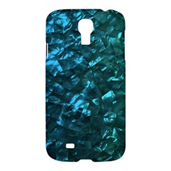 Ocean Blue and Aqua Mother of Pearl Nacre Pattern Samsung Galaxy S4 I9500/I9505 Hardshell Case