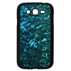 Ocean Blue and Aqua Mother of Pearl Nacre Pattern Samsung Galaxy Grand DUOS I9082 Case (Black)