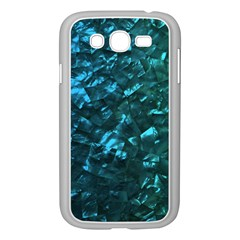 Ocean Blue and Aqua Mother of Pearl Nacre Pattern Samsung Galaxy Grand DUOS I9082 Case (White)