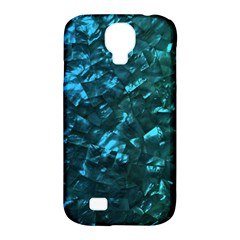 Ocean Blue and Aqua Mother of Pearl Nacre Pattern Samsung Galaxy S4 Classic Hardshell Case (PC+Silicone)