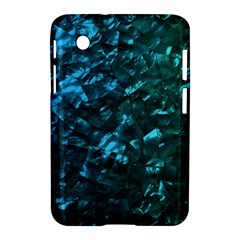 Ocean Blue and Aqua Mother of Pearl Nacre Pattern Samsung Galaxy Tab 2 (7 ) P3100 Hardshell Case