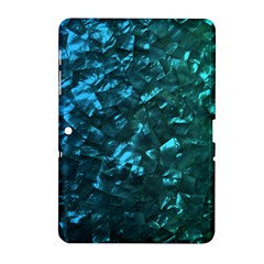 Ocean Blue and Aqua Mother of Pearl Nacre Pattern Samsung Galaxy Tab 2 (10.1 ) P5100 Hardshell Case