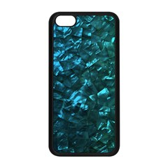 Ocean Blue and Aqua Mother of Pearl Nacre Pattern Apple iPhone 5C Seamless Case (Black)