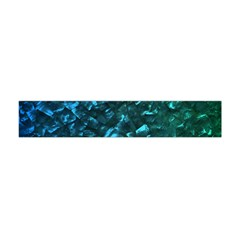 Ocean Blue and Aqua Mother of Pearl Nacre Pattern Flano Scarf (Mini)