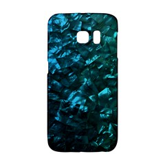 Ocean Blue and Aqua Mother of Pearl Nacre Pattern Galaxy S6 Edge