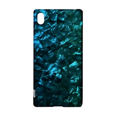 Ocean Blue and Aqua Mother of Pearl Nacre Pattern Sony Xperia Z3+