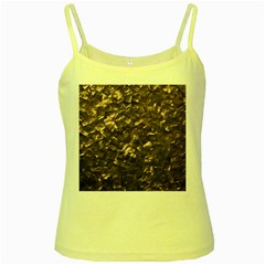 Glitter Rose Gold Shimmering Mother of Pearl Nacre Yellow Spaghetti Tank