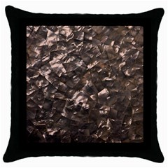Glitter Rose Gold Shimmering Mother of Pearl Nacre Throw Pillow Case (Black)