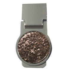 Glitter Rose Gold Shimmering Mother of Pearl Nacre Money Clips (Round)