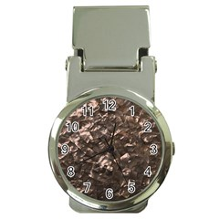Glitter Rose Gold Shimmering Mother of Pearl Nacre Money Clip Watches