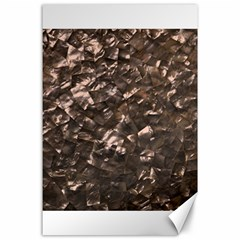 Glitter Rose Gold Shimmering Mother of Pearl Nacre Canvas 24  x 36