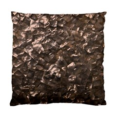 Glitter Rose Gold Shimmering Mother of Pearl Nacre Standard Cushion Case (One Side)