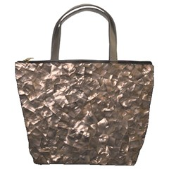 Glitter Rose Gold Shimmering Mother of Pearl Nacre Bucket Bags