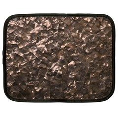 Glitter Rose Gold Shimmering Mother of Pearl Nacre Netbook Case (XXL)