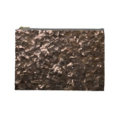 Glitter Rose Gold Shimmering Mother of Pearl Nacre Cosmetic Bag (Large)